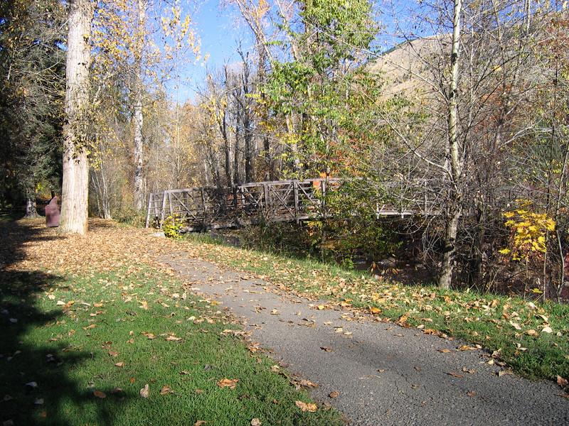 The foot bridge at Greenough Park.