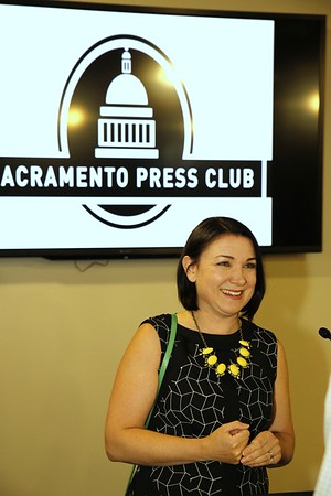 Tamara Keith speaks at the Sacramento Press Club luncheon 08 29 16