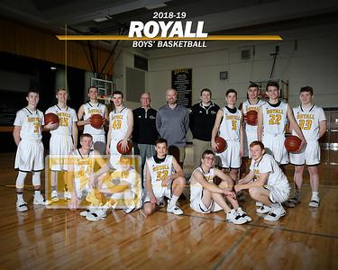 Royall boys' basketball BBB1819