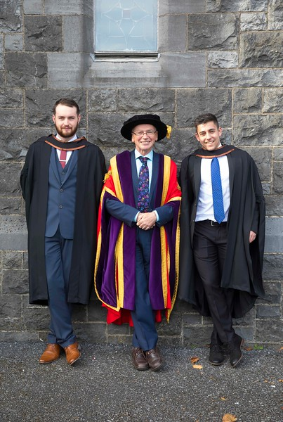 03/11/2016. Waterford Institute of Technology (WIT) Conferring Ceremonies November 2016:  Pictured are Joseph Dolan from  Galway who graduated BA (Hons) in Criminal Justice,  Studies, Prof. Willie Donnelly, President of WIT and Erik Horvath from Kilkenny City who graduated BA (Hons) in Criminal Justice Studies. Picture: Patrick Browne