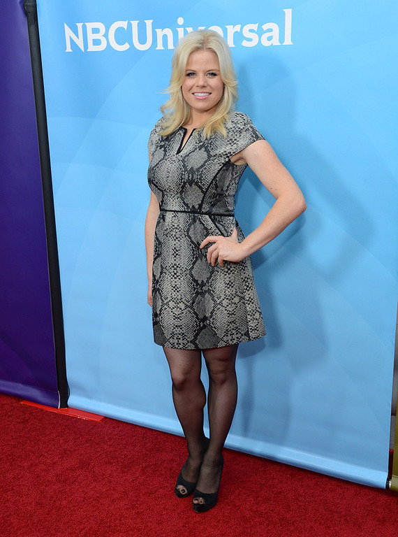 ". Megan Hilty attends NBCUniversal\'s ""2013 Winter TCA Tour\"" Day 1 at Langham Hotel on January 6, 2013 in Pasadena, California.  (Photo by Jason Kempin/Getty Images)"