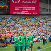Socceroos warming up | 2015 Asian Cup Final Match | Australia vs South Korea | Stadium Australia | January 31, 2015 in Sydney, Australia