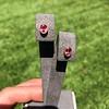 .79ctw Oval Padparadscha Sapphire Bezel Stud Earrings 6