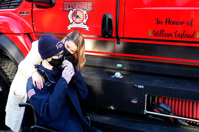 Photos: Hygiene Volunteer Fireman with Cancer is Honored