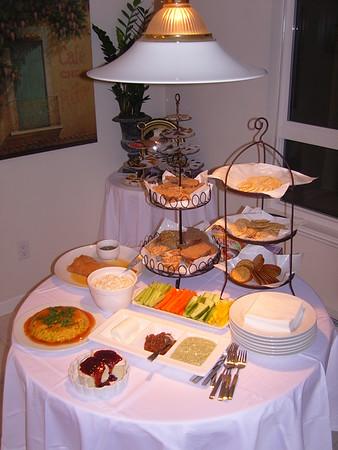 Food display and table settings
