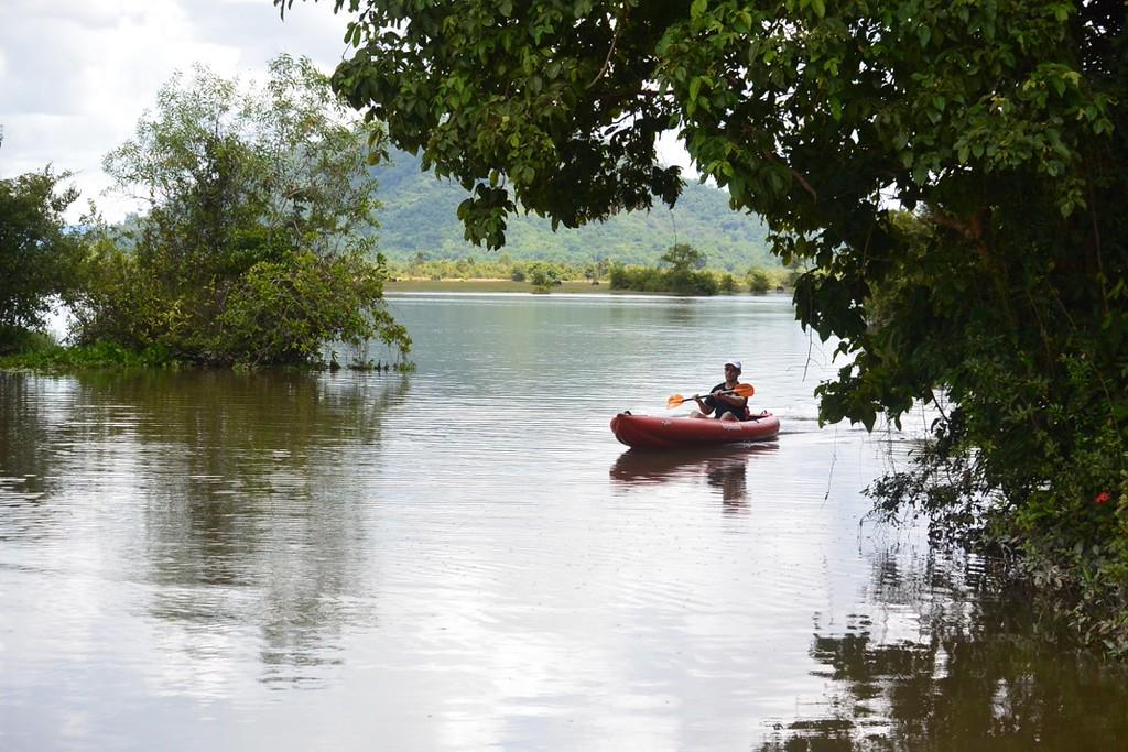 Bike, Kayaking trips to the secret lake near Siem Reap