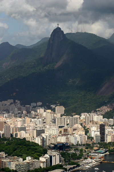Views from Sugar Loaf Mountain of the Corcovado.