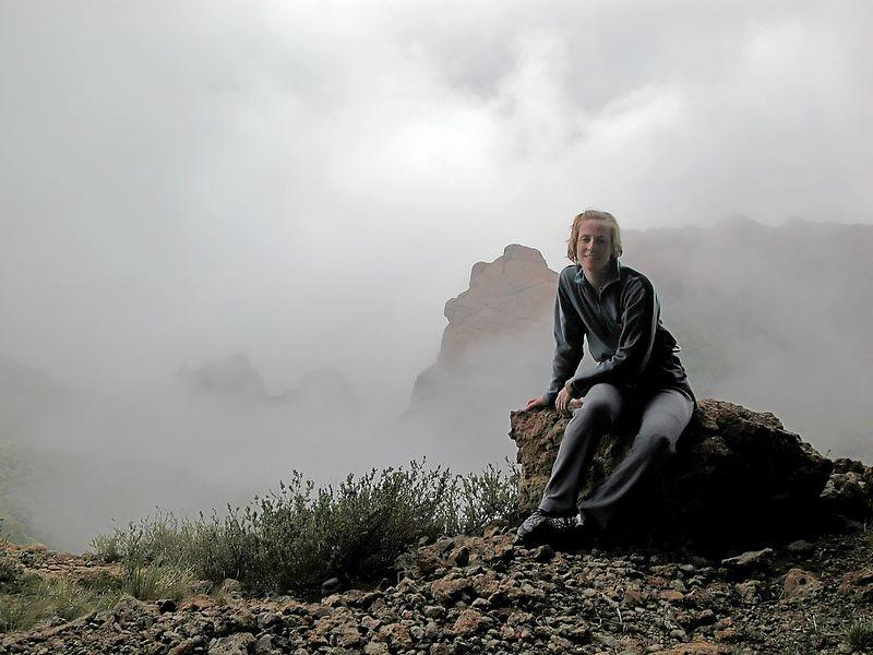 Susan in the mist Boney Bluffs
