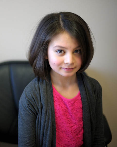2/26/14 Madeline after her cut donation for 'Children with Hair Loss'