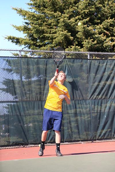 High School Tennis - Varsity Boys - Marquette Redmen vs Negaunee Miners - 05/23/14