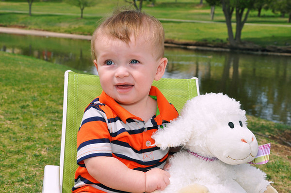 Christian Anthony 7 Months Easter Pics