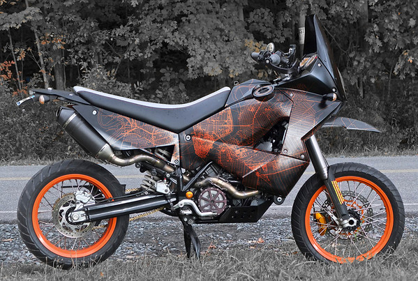 KTM 950 to 990 2WD conversion with FCRs