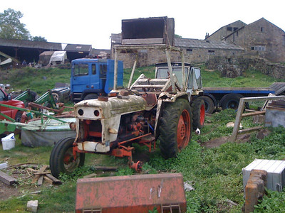 Abandoned farm machinery