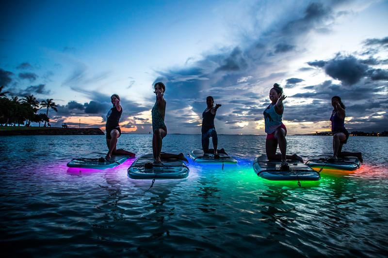 Yoga Floats & Glows