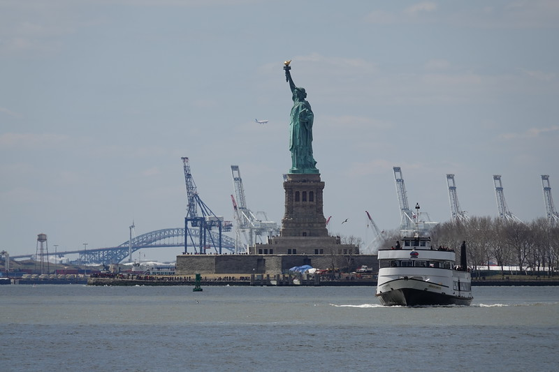 Returning ferry from the Statue of Liberty & Ellis Island.