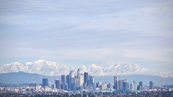 Los Angeles with Snow 11-30-19