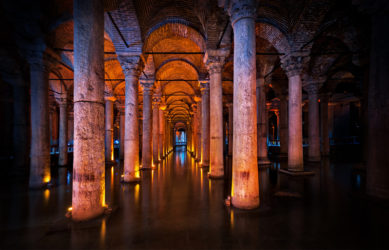 The Roman Cistern In Istanbul