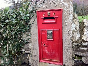 Old Mailbox on the Isle of Man