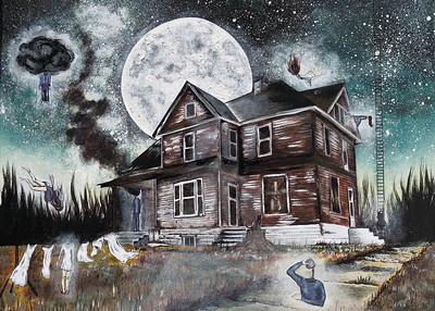 """Forgiveness"" (acrylic and ink on canvas) by Kayleigh Carroll"