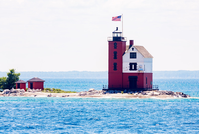 Back to St. Igance.  We pass the Mackinac Island Lighthouse.