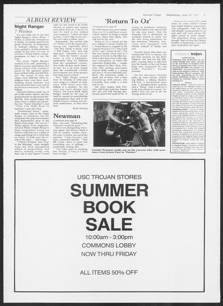 Summer Trojan, Vol. 99, No. 5, June 19, 1985
