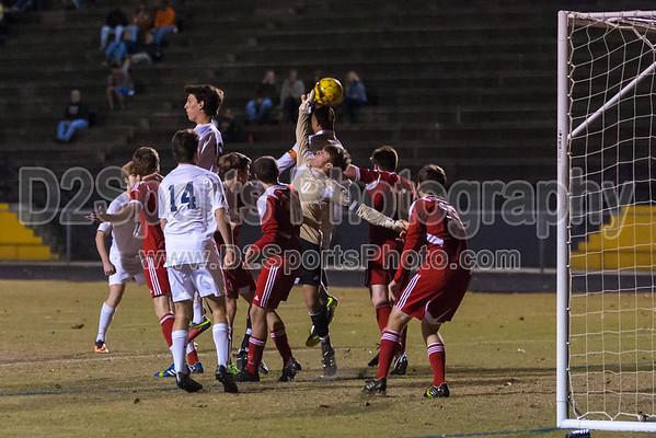 Mt Tabor Spartans vs Charlotte Catholic Cougars Men's Varsity Soccer 11/2/2013