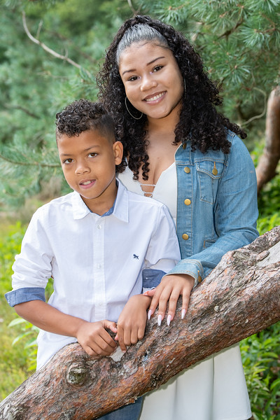 Portret gezin Angelique en Jean