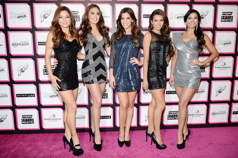 ". Finalists from ""Nuestra Belleza Latina\"" Marina Ruiz, Barbara Turbay, Viviana Ortiz, Marisela Demontecristo, and Audris Rijo attend People En Espanol\'s 50 Most Beautiful 2013 at Marquee on May 13, 2013 in New York City.  (Photo by Dimitrios Kambouris/Getty Images for People en Espanol)"
