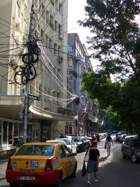 Wires in Bucharest