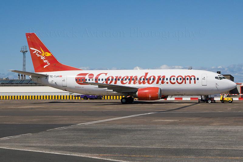 TC-TJA. Boeing 737-3Q8. Corendon Airlines. Prestwick. 210507.