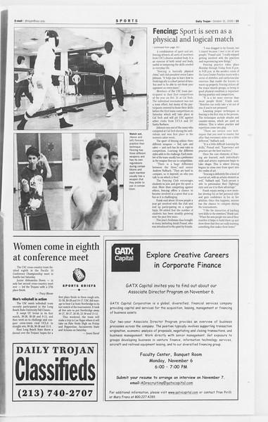 Daily Trojan, Vol. 141, No. 44, October 31, 2000