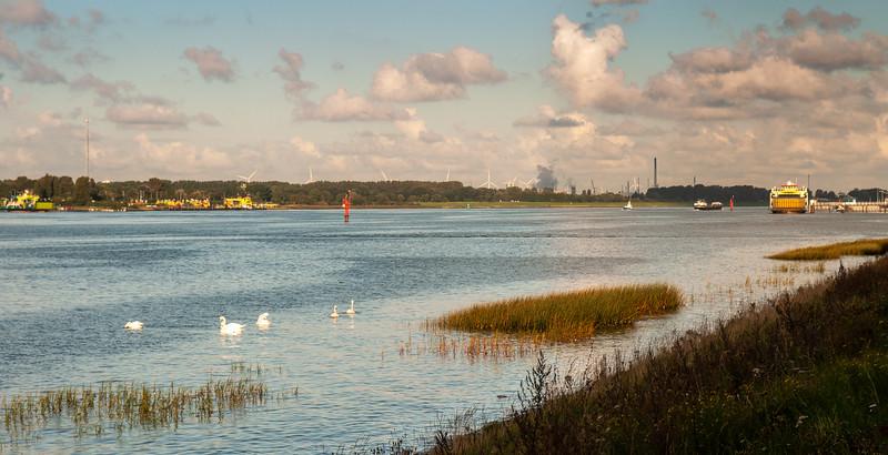 Nieuwe Waterweg at Maasluis