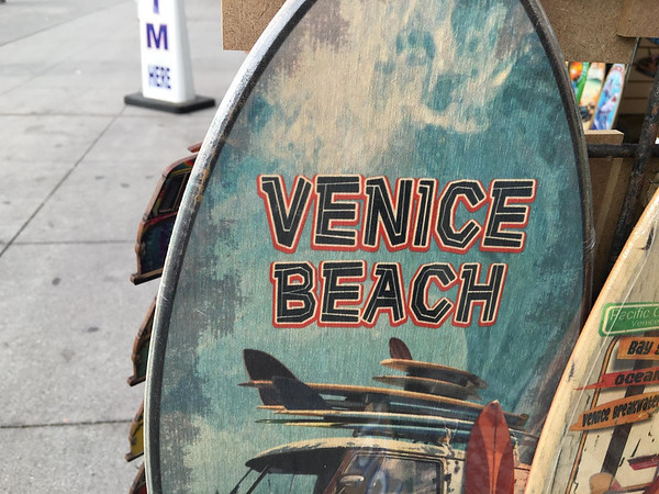 A Venice Beach painted surfboard for sale
