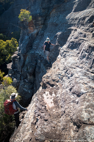 The next morning, climbing the pass