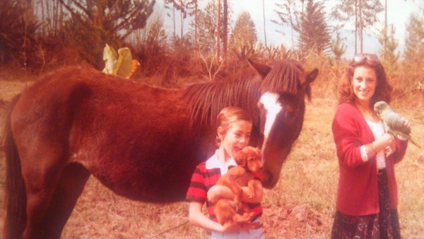 Old School photo discovery. Parrot, Carioca the horse, and the dog