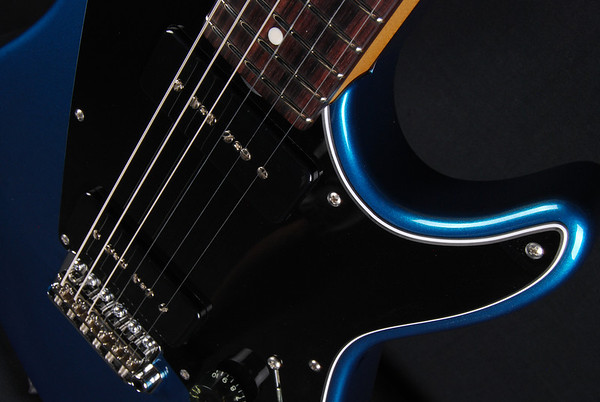ElectraJet Custom, Blue Over Black Metallic, G90 Pickups