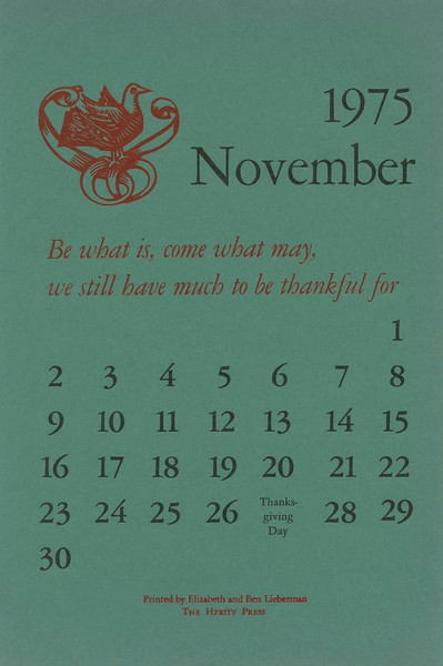 November, 1975, Herity Press