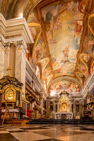 Spaziergang in Ljubliana: Im Innern der Franziskanerkirche