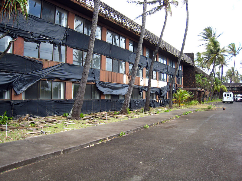 Coco Palms Resort was severely damaged in 1992 Hurricane and not reopened