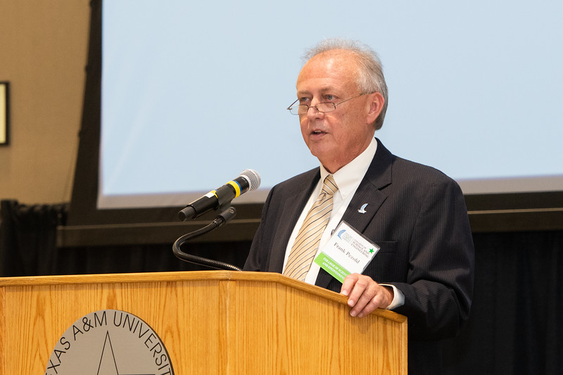 TAMU-CC Dean of the College of Science and Engineering, Frank Pezold, welcomes guests to the 2018 Friends of Engineering Luncheon. Friday April 6, 2018 at Texas A&M University-Corpus Christi.