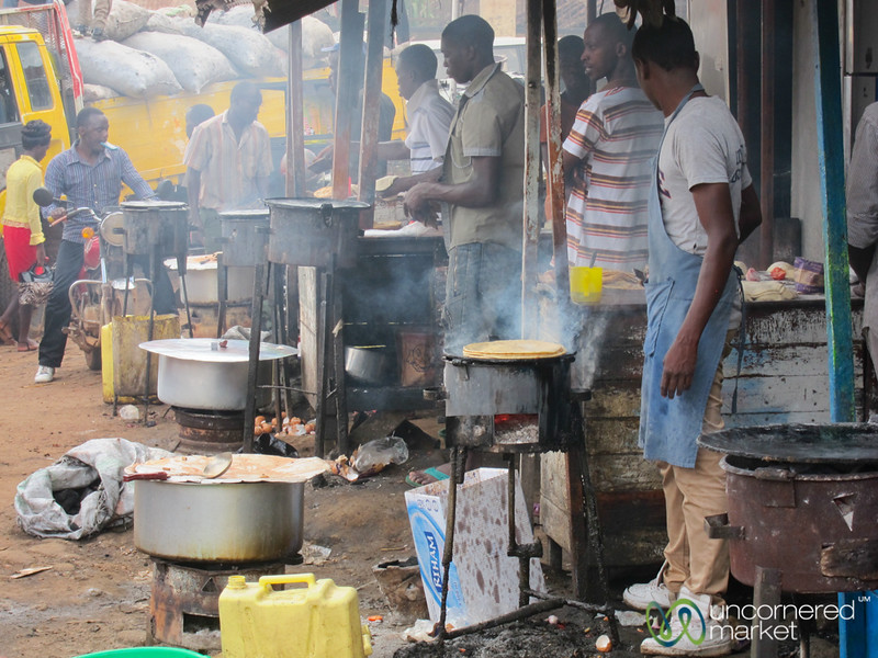 Making Chapatis at the Mengo Market - Kampala, Uganda