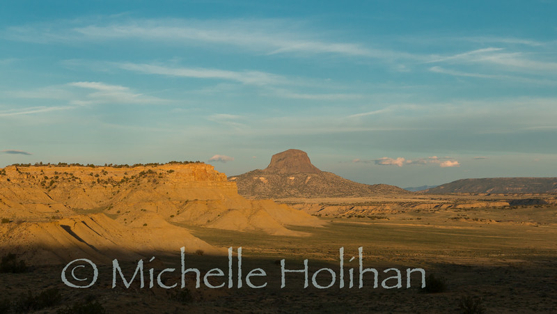 Cabezon Peak from the Empedrado Wilderness Study Area, New Mexico.