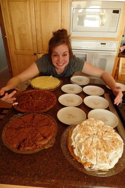 Katie - guarding the dessert