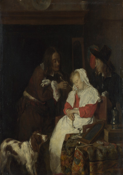 Two Men with a Sleeping Woman