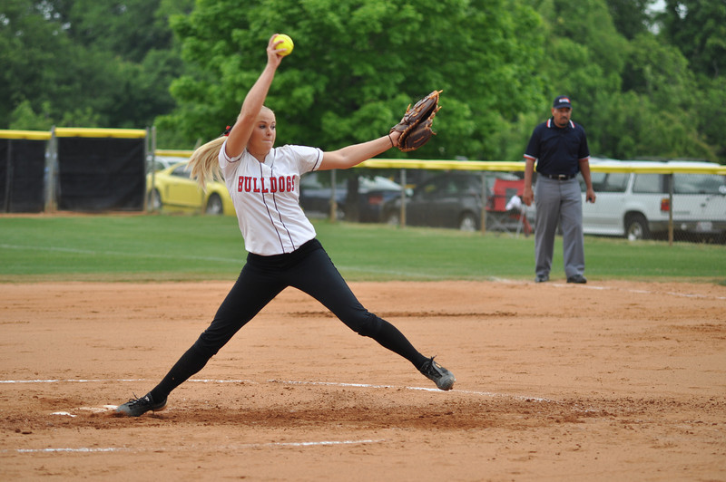 Jessica Childers pitches vs Charleston Southern on April 21, 2012.