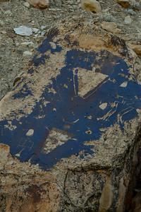 Nefertiti petroglyphs in Desolation canyon