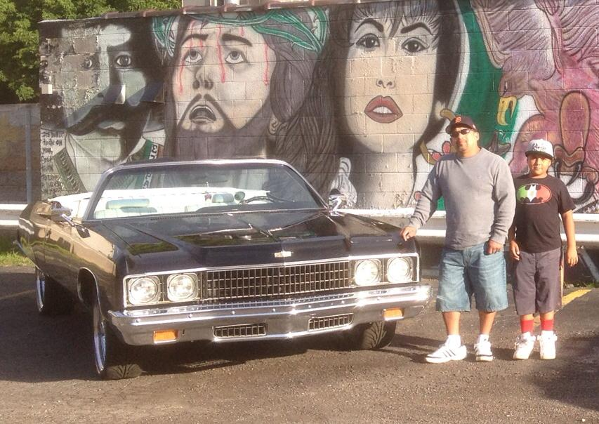 Description of . Mike Castro and son Julian are pictured with their 1973 Caprice Classic.