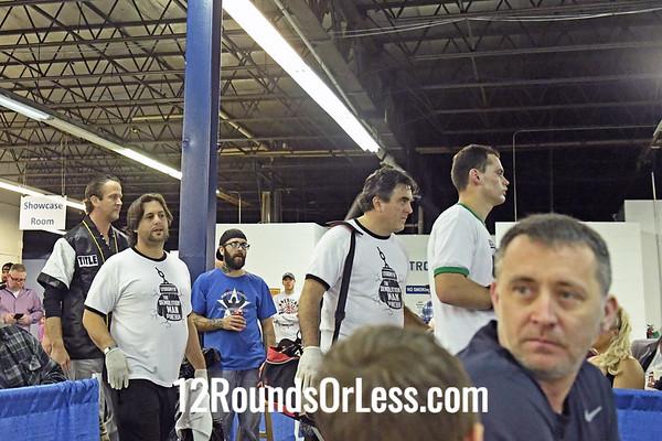 Bout 7:  Pro Boxing Lyubomyr Pinchuk, Red Wrist Wraps vs Leroy Jones, Blue Wrist Wraps