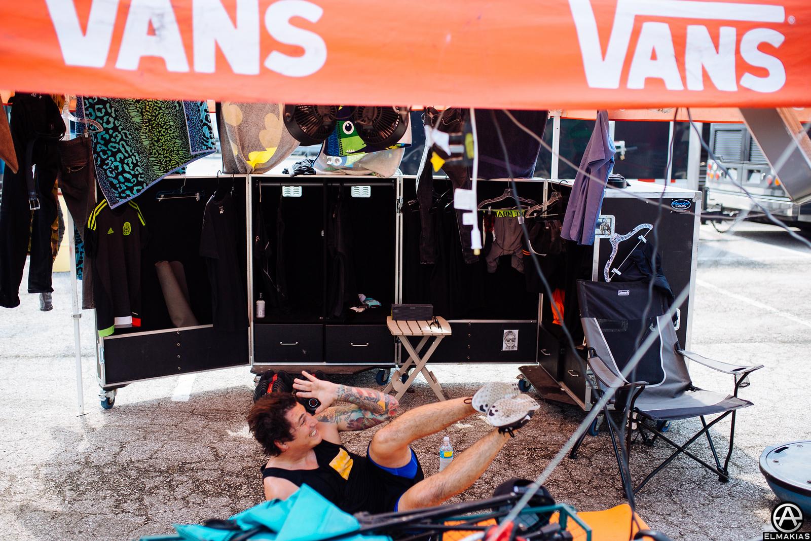 Jaime Preciado of Pierce the Veil at Warped Tour 2015 by Adam Elmakias