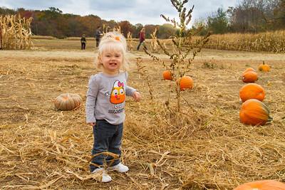 Mackenna at the Pumpkin Patch Oct 27, 2012